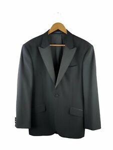 Gieves No.1 Saville Row Button Blazer Jacket Mens Size 39L Black Lined 100% Wool