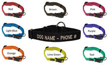 Personalized Microfiber Padded Dog Collar Comfortable Washable Custom Embrodery