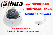 dahua Ipc-Hdbw2320Rp-Zs 3Mp Hd Poe Ir Ip Cctv 2.7~12mm vari-focal Dome Camera
