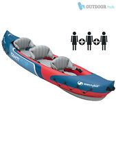 Sevylor Tahiti Plus Inflatable Kayak 2+1 Person 3 Man Tandem Canoe PVC River