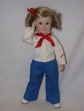 "14"" Porcelain Captain January Shirley Temple Doll By Danbury Mint 1990"