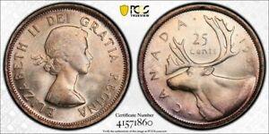 1955 Canada 25 Cent PCGS MS65 Lot#G845 Silver! Gem BU!