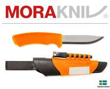 Morakniv Fixed Blade Knife Bushcraft Survival Orange With Multi Sheath 13907