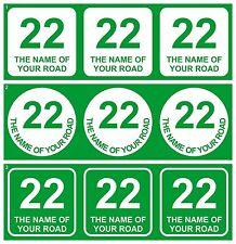Wheelie Bin Pattumiera segni numero civico Set di 3 adesivi in vinile