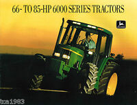 John DEERE TRACTOR Brochure/Catalog, 66-85 HP:6200,6300,6400,6500,L, 6000 series