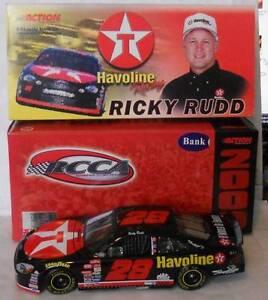 2000 RICKY RUDD #28 HAVOLINE 1:24 RCCA BANK Serial # 0602 of 3504