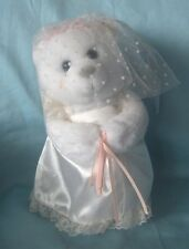 Musical Wedding Teddy Bear in White Wedding Gown Russ - Plays The Wedding March