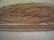 6313  4-4.5 MM JEWELRY QUALITY NATURAL ROSE BABY BUTTON PEARL LOOSE BEAD STRAND