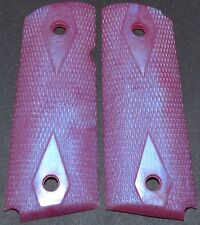 1911 compact pistol grips pink blue duo plastc