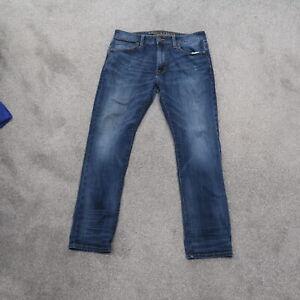 American Eagle Slim Straight Stretch Blue Dark Wash Men's Stretch Jeans 33x30