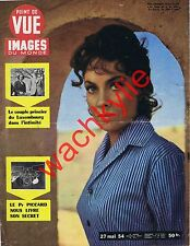 Point de vue n°312 du 27/05/1954 Gina Lollobrigida Luxembourg Auguste Piccard