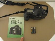 (NEAR MINT ROLL 5) CANON EOS-1V 35 MM SLR FILM CAMERA  WITH BOOK & BATTERYJAPAN