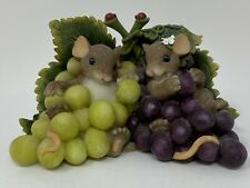 Charming Tails Im So Grape-ful For You Fitz And Floyd 2004 Mice And Grapes