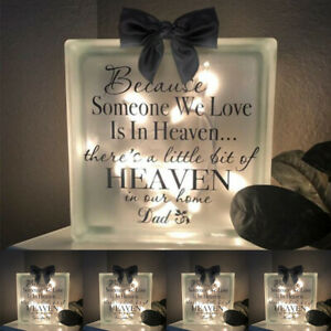 Family Memorial Blocks Commemorative Luminous Bricks Desktop Light Up Home Decor
