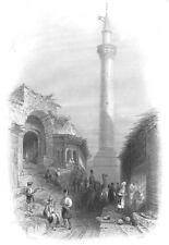 Turkey BURSA GRAND MOSQUE ULU CAMI 1838 Ottoman Architecture Art Print Engraving