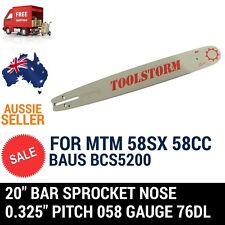 20'' CHAINSAW BAR SPROCKET NOSE FOR MTM 62SX 62CC CHAINSAW .325 058 76DL