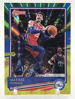 MATISSE THYBULLE - 2020-21 Donruss Green Yellow Laser #74 Philadelphia 76ers