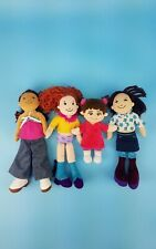Groovy Girls Lot Of 4 Plush Dolls Red Brown Hair + Clothes Tamsen Celeste Shika