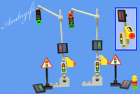 LEGO traffic lights  european French style overhead traffic lights road signs