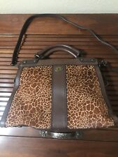 fossil leather satchel giraffe handbag,