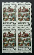 Germany 500th Anniv. Of Siege Of Neuss 1975 Town City (stamp block of 4) MNH