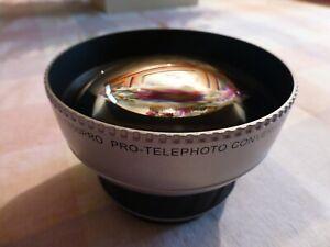MINT Raynox DCR-1850PRO Telephoto Conversion Lens 52/58mm Mount w/ Bag