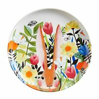 NWT Pier 1 Imports  SET OF 4 MODERN FLORAL & BUNNY SALAD PLATES