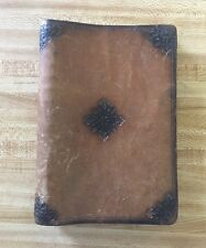 Tooled Leather Bound Blank Journal Notebook Handmade by The Cobbler, Big Sur