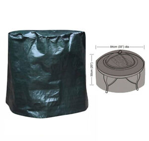 Fire Pit Cover Heavy Duty Large Folding Waterproof UV Resistant Outdoor Patio