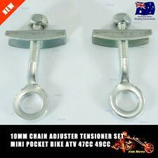 2x REAR AXLE CHAIN ADJUSTER BOLT TENSIONER 47CC 49CC POCKET MINI DIRT MOTOR BIKE