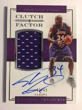2016 17 National Treasures SHAQUILLE O'NEAL Clutch Factor Jersey AUTO /49 Lakers