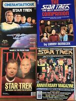 Star Trek Book Magazines Companion Anniversary Enterprise Vintage Lot of 4