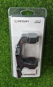 "Riton Quick-Detach Precision Scope Mount, 30mm/1"",Matte Black, w/Tool  - X301QD"