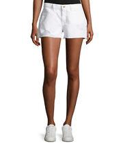 FRAME $195 Women's Le Grand Garcon denim shorts w/ stressing - 24 NWT