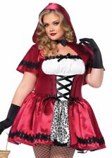 Leg Avenue Plus Size Gothic Red Riding Hood Costume Hooded Cape 1X/2X NEW
