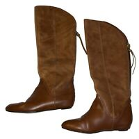 Steven By Steve Madden Womens Tall Riding Boots Knee Hig Brown Leather Boots 5.5