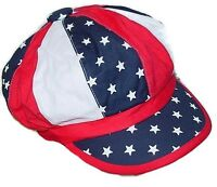 USA Newsboy Hat Cap Red White Blue One Size Fits All