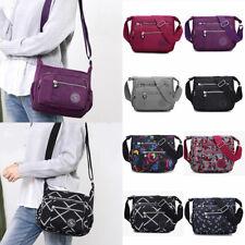 Women Simple Messenger Shoulder Bag Travel Shopping Crossbody Multi-pocket Purse