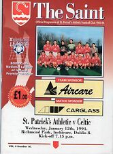 Jan 94 ST PATRICK'S ATHLETIC v CELTIC