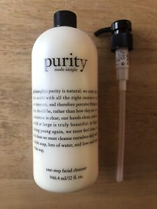 Philosophy Purity Made Simple One Step Facial Cleanser 32oz w/Pump Jumbo Size