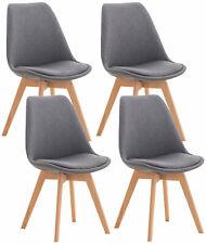 #R48630/2708 4x Stuhl Linares Stoff grau Esszimmerstuhl Stuhl-Set Küchenstuhl