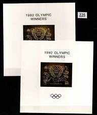# GUYANA 1992 - MNH - SILVER+GOLD OVERPRINT - TURTLE, SHELLS, ELEPHANT, PENGUIN