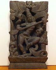 Antico Bassorilievo in Legno Indiano