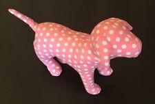 Victoria's Secret Rare Plush Pink Dog Small White Polka Dots EUC
