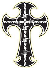 Window Decals Car Sticker celtic cross skull biker goth van hotrod punk pagan