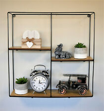 Hanging Metal Square Shelf Unique Industrial Style Storage Retro Cube Display