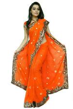 Bollywood Wedding Sequin Sari Saree BellyDance Curtain Jupe Oriental Robe Kaftan