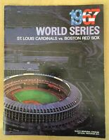 VINTAGE 1967 WORLD SERIES PROGRAM - BOSTON RED SOX @ ST LOUIS CARDINALS - BUSCH