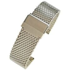 22mm Eulit Stalux Milanese Mesh Stainless Steel German-Made Watch Band Bracelet