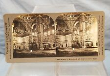 Vintage Keystone Stereoview Card Mosque Of Mohammed Ali Interior Cairo, Egypt